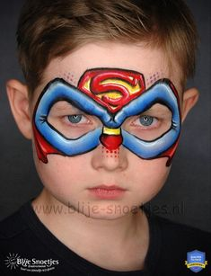 Annabel Hoogeveen: Unlocking the Secrets to Creative Success Face Painting Tips, Face Painting For Boys, Face Painting Designs, Face Paintings, Boy Face, Male Face, Superman Face Painting, Tinta Facial, Mermaid Face Paint