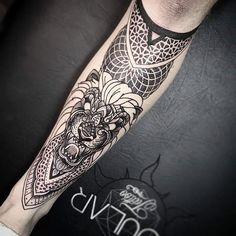 Leg sleeve in progress by @brie_dots_etc  #tattoo #tattoos #tattooed #ink #inked #inkstagram #tattoosofinstagram #tattoostagram #tattooart #blxckink #fineline #blackwork #blackworktattoo #btattooing #geometric #geo #lion #liontattoo #wip #customtattoo #christchurch #nz #newzealandtattoo by soular_tattoo_nz