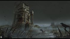 Some parts of the island that Bludhall Keep is situated on are extremely spooky and decrepit.