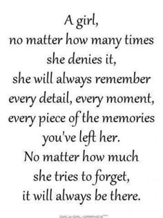 A girl never forgets. #quotes #women