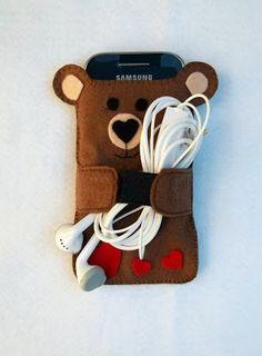 Capa de celular ursinho