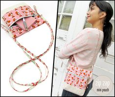 Zip Zap Mini Pouch with Side Loop Straps | Sew4Home