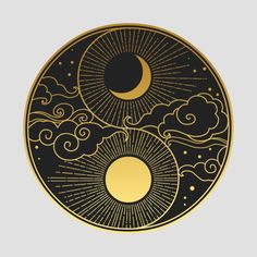 Constellations Discover Decorative graphic design element in oriental style. Vector hand drawing illustration Decorative graphic design element in oriental style. Arte Yin Yang, Yin Yang Art, Yin And Yang, Inspiration Art, Art Inspo, Art Design, Design Elements, Moon Design, Elements Of Art