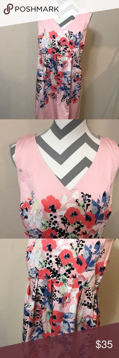 Women's Maternity Formal Dress- XL Motherhood Maternity brand, size XL, excellent condition, this dress is like a piece of art, I wore it for my gender reveal as it has blue and pink (I had a girl!) has a zipper on the back, plenty of room for a growing belly! This is sleeveless Motherhood Maternity Dresses Midi