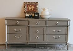 Coco Annie Sloan Chalk Paint Dresser.LOve the color and old feel