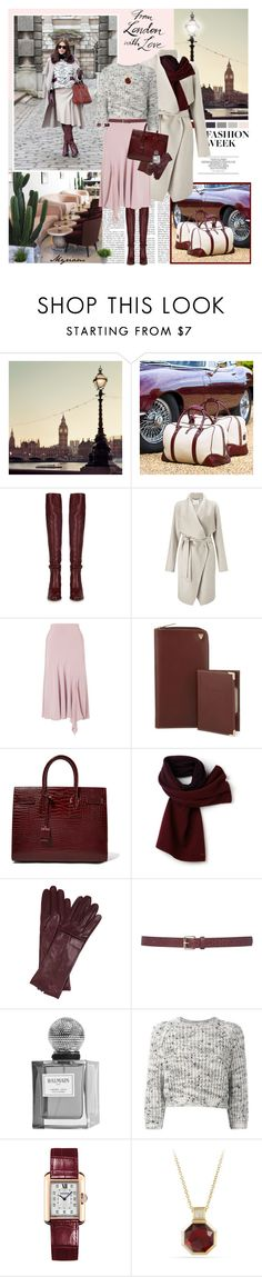 """""""I LOVE LONDON"""" by lovemeforthelife-myriam ❤ liked on Polyvore featuring Aspinal of London, Chloé, Finesse, Chesca, Yves Saint Laurent, Lacoste, Todd Lynn, M&Co, Balmain and Brunello Cucinelli"""