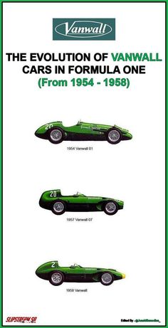 The Evolution of Vanwall Cars in Formula One. The first ever team to win a Drag Racing, F1 Racing, Racing Team, Aston Martin, Bristol, Formula 1 Car, Racing Events, Vintage Race Car, Indy Cars