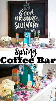 Spring Coffee Bar with World Market Coupon
