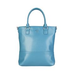 Spring / Summer Collection- Shopping bag of Saffiano eco-leather.- Two handles, shoulder strap removable and adjustable nylon tape.- Closing with metal zip and personalized puller. Italy Fashion, Blue Bags, Fashion Handbags, Summer Collection, Shoulder Strap, All In One, Zip, Tote Bag, Shopping Bags