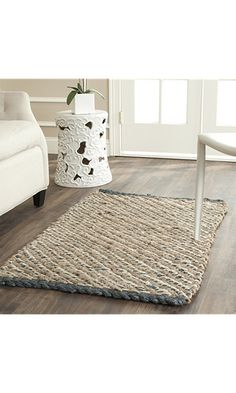 Safavieh Natural Fiber Collection Nf454a Hand Woven Blue And Jute Area Rug 2