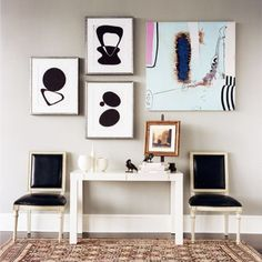 Decorating tip: The artwork's subject can inspire your choice of frame. Pair a beach scene with a whitewashed wood frame, for example, or a woodsy landscape with a dark, knotted wood one. A white frame against a white wall gives the image a high-end, lofty feel—it can even make a poster with lettering look more luxe.