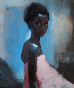 """bciacco: """" Painting practice. When ever I see this model i feel compelled to study here face and skin tones. """""""