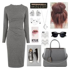 """Untitled #3"" by aylinstyles ❤ liked on Polyvore featuring Whistles, Converse, Fendi, Casetify and Georgini"