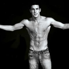 Mario Casas - goodness, why bothered with jeans?  Lol
