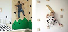 Instala un rocódromo en la habitación infantil - http://www.decoora.com/instala-rocodromo-la-habitacion-infantil/
