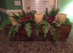 Sugar mold Christmas Arrangements, Christmas Centerpieces, Xmas Decorations, Primitive Christmas, Rustic Christmas, Christmas Projects, Christmas Holidays, Sugar Mold, Candle Molds