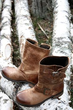 Biker boots in brown - beautiful!
