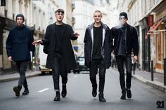 Mens Fashion Week Fall Winter 2014 doc martens men's style outfit black inspired black textures mixed