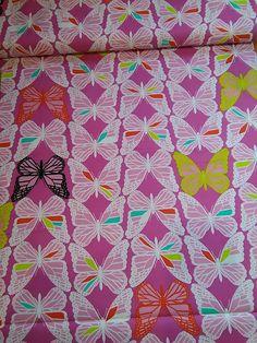 Tela de algodón estampada con mariposas - Butterfly fabric de TelasAndDiy en Etsy