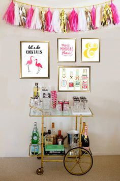 The Bar Cart Collection Let's Do Cocktails Print by EvelynHenson