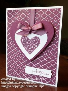 Paper Cards, Diy Cards, Cute Cards, Valentine Day Cards, Handmade Valentines Cards, Holiday Cards, Scrapbook Cards, Purple Cards, Deep Purple