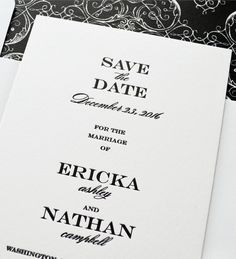 Kleinfeld Paper || Traditional Wedding Save-the-Date