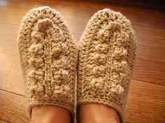 Ravelry: Amure: Color Slippers, pattern by Clover Japan