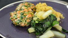 Zalmballetjes met paksoi en quinoa salade  | VTM Koken  => balletjes niet echt te rollen
