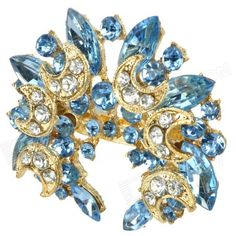 Qty: 1 piece(s) per pack; Color: Blue + Golden; Material: Alloy + Rhinestone; Specification: fastened in bosom, makes you more fashion and elegant; Packing List: 1 x Brooch Pin; 1 x Gift box; http://j.mp/1v3d60l