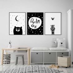 This Zebra Nursery Print in Black and White will look great on its own. It also goes well with other Black and White Nursery Wall Art by Cars For Mars.