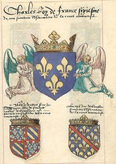 """«Armorial de la cour amoureuse """"dite"""" de Charles VI» ou """"CAM"""", France, 1560 [f° 52r-101v, BNF Ms fr. 5233] -- Fac-similé par Jacques Le Boucq du manuscrit de Vienne, 1417-1420 [AOTdO Ms 51]"""