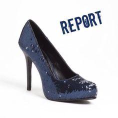 """Report Navy Sequin Heels Report """"Boyd"""" Navy Sequin Heels, size 8. 4.5"""" heels. In excellent, like new condition. Worn twice. Report Shoes Heels"""
