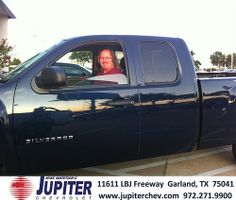 Thank you to David Highsmith on the 2011 Chevrolet Silverado 1500 from Michelle Hooper and everyone at Jupiter Chevrolet