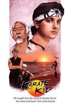'Karate Kid' (1984) movie poster #karate #kid #movie #tribute #poster https://www.behance.net/gallery/28411543/Karate-Kid-movie-poster