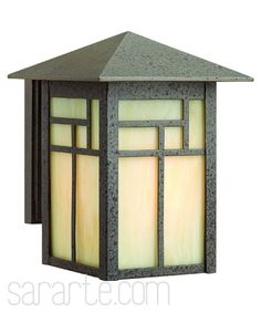 Mission style outdoor light