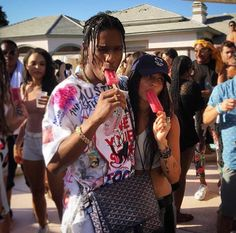 asap rocky, zoe kravitz, and coachella image Zoe Kravitz, Lord Pretty Flacko, Asap Rocky, Kardashian, Soft Ghetto, Bff, Goyard Bag, Fotos Goals, Don Juan