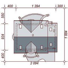 DOM.PL™ - Projekt domu DN Karmelita mała CE - DOM PC1-01 - gotowy koszt budowy Malaga, House Plans, Floor Plans, How To Plan, Modern, Log Homes, Home, Trendy Tree, House Floor Plans