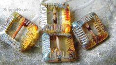 Mosaic Squares, Glass, Beads, DIY, Jewelry, Fall Fashion https://www.etsy.com/shop/SupplyBeads?ref=hdr_shop_menu