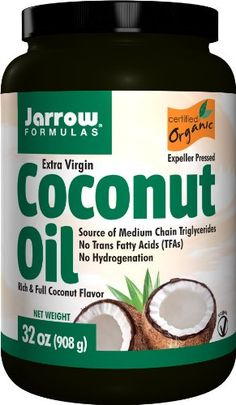 Extra Virgin Coconut Oil by Jarrow - 32 Ounces - http://goodvibeorganics.com/extra-virgin-coconut-oil-by-jarrow-32-ounces/