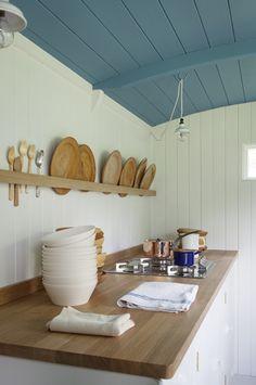 Shepherd's Hut - British Standard Kitchen by Plain English