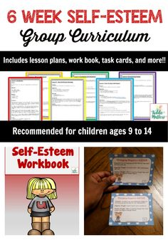 This Six Week Self-Esteem Group curriculum contains games, activities, task cards, and worksheets to help children ages 9 to 14 learn how to value their worth and gain more self-confidence. When children know that they are of value and are important, they perform well in school and are more likely to find success later in life. The resources included in this product give kids an opportunity to develop a growth mindset to challenge the negative feelings and thoughts they have toward themselve...