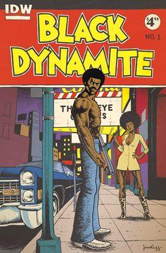 Black Dynamite by Jim Rugg Comic Book Covers, Comic Books Art, Comic Art, Dope Cartoons, Dope Cartoon Art, Black Dynamite, Black Cartoon Characters, Black Comics, Classic Comics