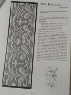 Vtg-40s-Religious-CHURCH-LACES-Filet-Crochet-Pattern-Booklet