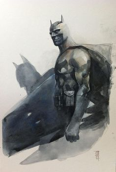 I just posted SO much Alex Maleev haha but I recently found out that he'll be at Vancouver FanExpo and I'm kinda geeking out. This is Shadow of the Bat, by Alex Maleev.