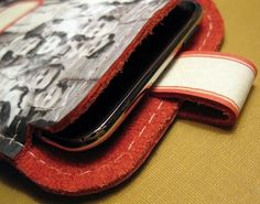 Simple Leather iPod Touch / iPhone case from Just Something I Made