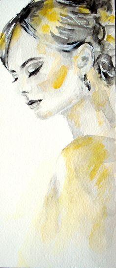 Mini peinture originale daquarelle aquarelle par AntigoniArtGallery