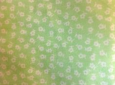 Green Cotton Blend White Floral Trim    5 inches wide       2 yard