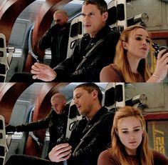 Legends of Tomorrow- 1x14 Leonard and Sara sharing a bottle!! #CaptainCanary❄️ /// I'M SCREAMING CAITY AND WENTWORTH