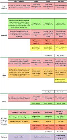 diversification alimentaire 0-12mois