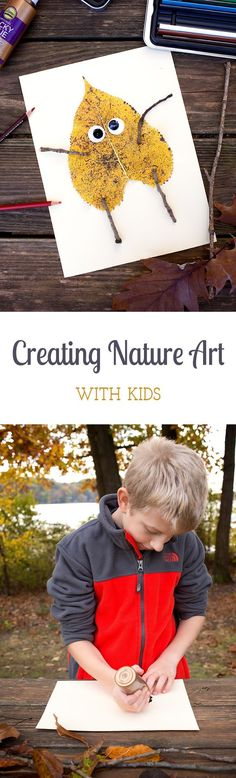 Fall is the perfect season for enjoying nature, playing outside, and creating Nature Art with your family. This activity is fun for kids of all ages! #CLIFKid